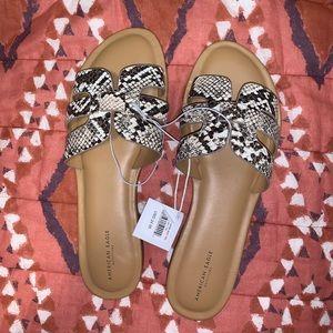 NWT American Eagle snakeskin sandals!